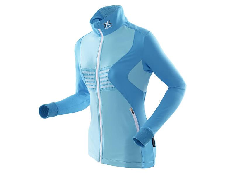 Bluza damska z pełnym zamkiem X-Bionic RACOON FULL ZIP Blue A425 2019 najtaniej
