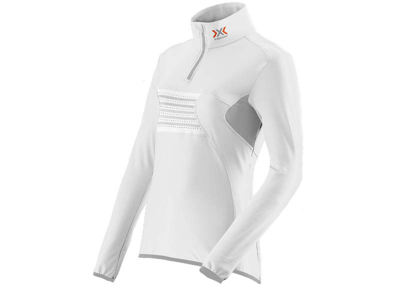 Bluza damska z krótkim zamkiem X-Bionic RACOON FULL ZIP UP UPD White Grey W106 2019 najtaniej