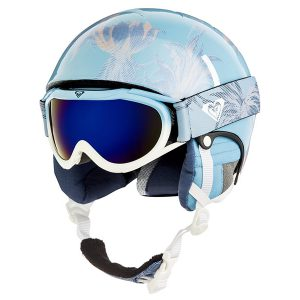 Zestaw Kask i gogle Roxy Misty Girl Powder Blue Swell Flowers (BGB1) 2019 najtaniej