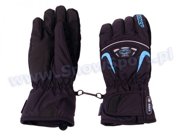 Rękawice Ziener GLENN AS Glove Ski Alpine (Black/Blue) najtaniej